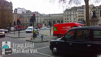 Fast moving with man and van in WC2N, Charing Cross